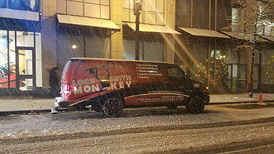 Locksmith service in the snow storm at the greater Portland